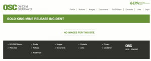 Screenshot of the EPA incident image page for the Gold Kind Mine Disaster