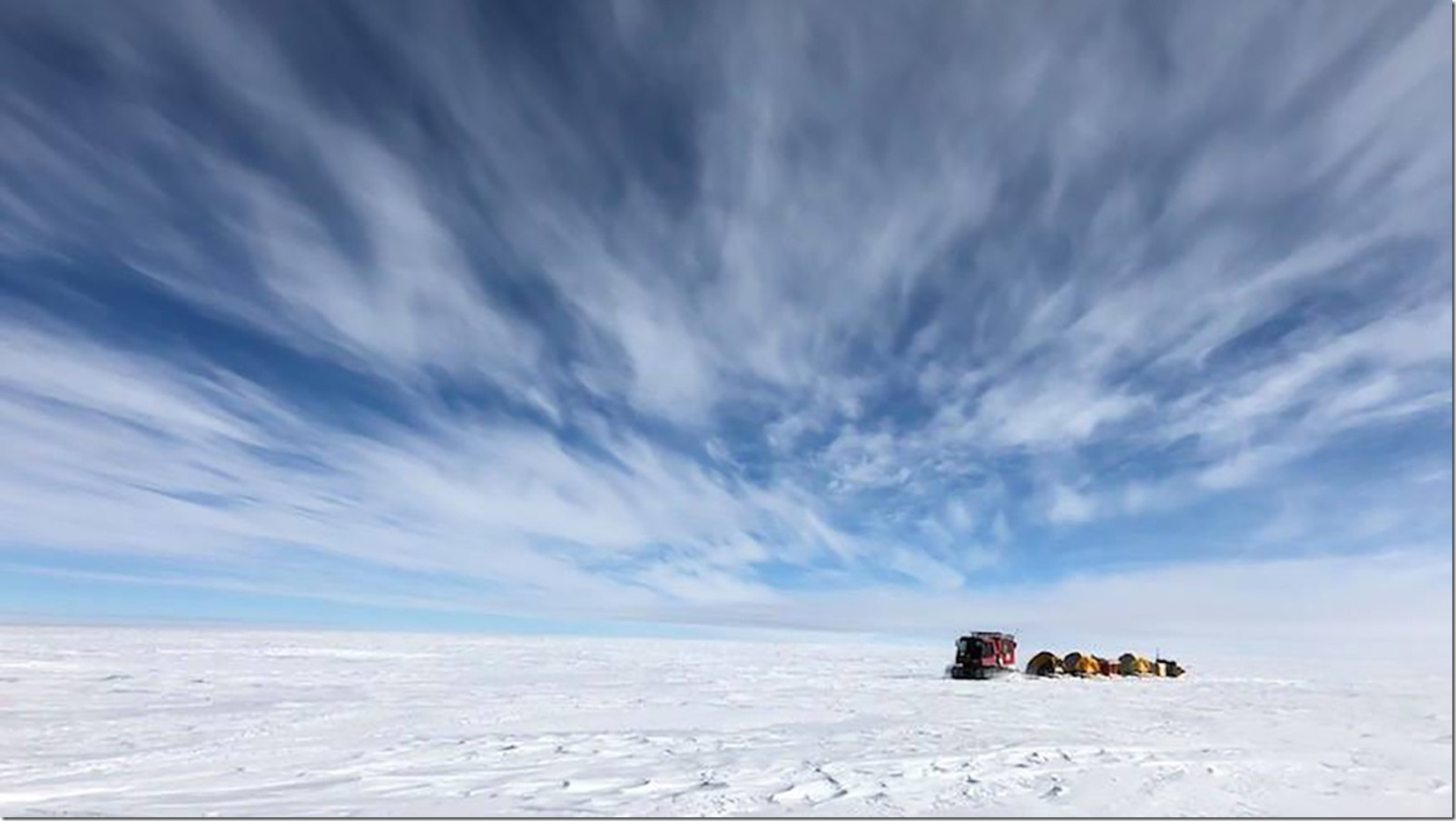 To assess the accuracy of the newly released ICESat-2 data, a NASA team set out to the South Pole. For the second-straight year, the team endured below-freezing temperatures, biting winds, and high altitude to conduct a traverse along the 88 degree south latitude line, taking highly accurate GPS measurements to compare with those from the satellite. Credit: NASA Goddard/Kelly Brunt
