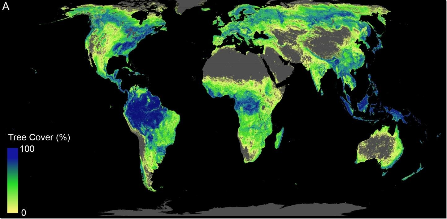 IMAGE: Figure A shows the total land available that can support trees across the globe (total of current forested areas and forest cover potential available for restoration. Credit: ETH Zurich / Crowther Lab