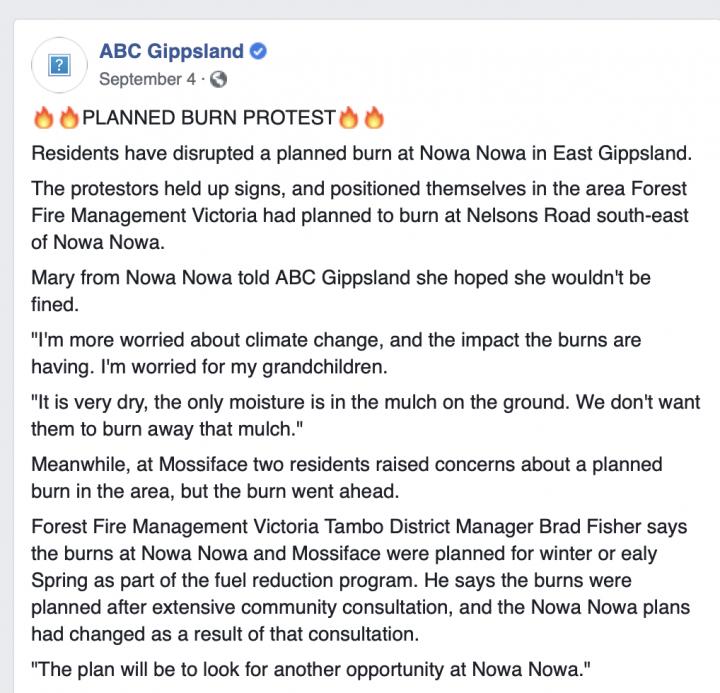ABC Gippsland Controlled Burn