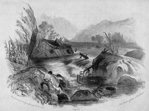 Bild vom Ahrhochwasser 1804. Zeitgenössische Lithographie.png