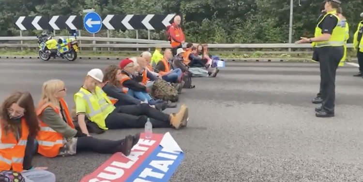 """""""Insulate Britain"""" Climate Activists Blamed for Motorway Crash"""
